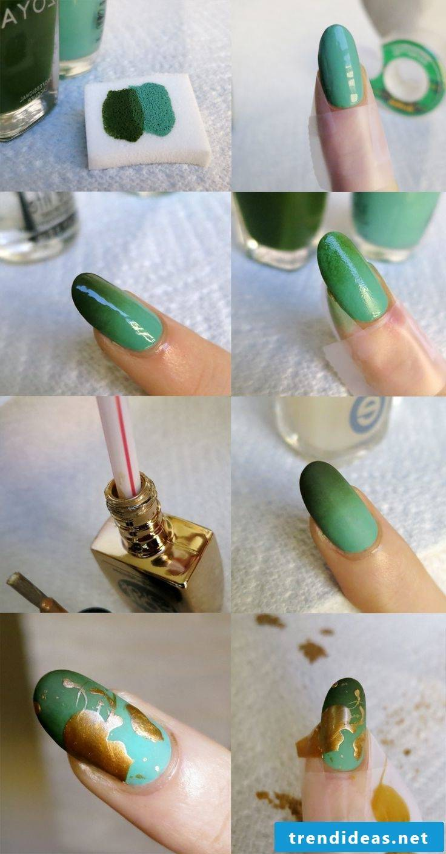 Fingernails design itself make instructions