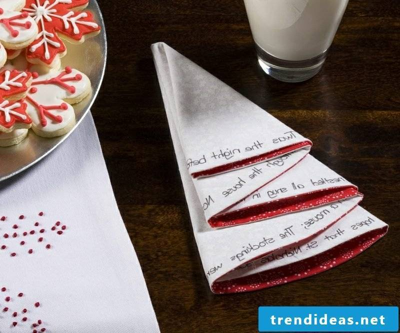 Napkins fold the best ideas for Christmas
