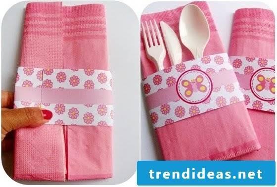 Nicely folded cutlery bag