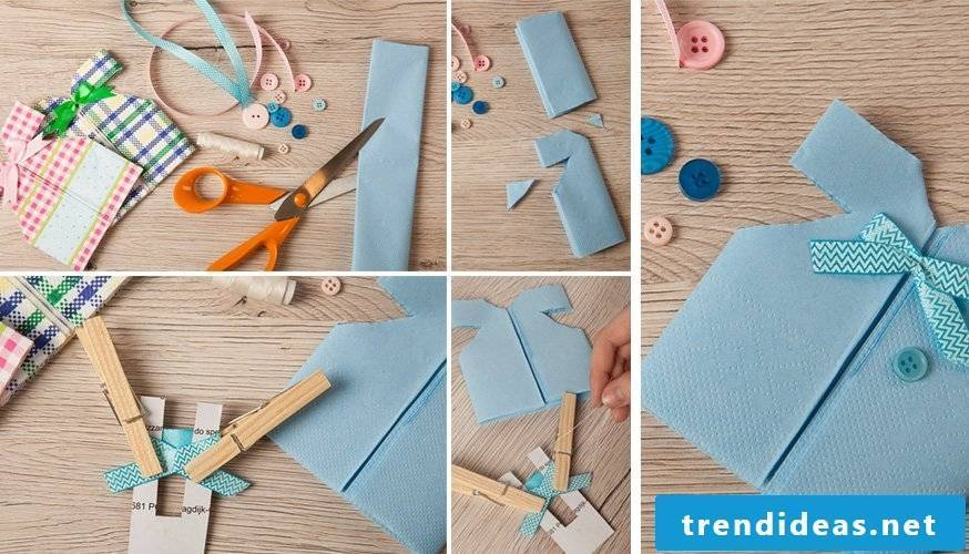 Free great instructions for napkins folding