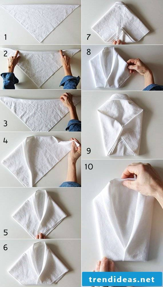 How to fold a napkin in the form of a shirt?