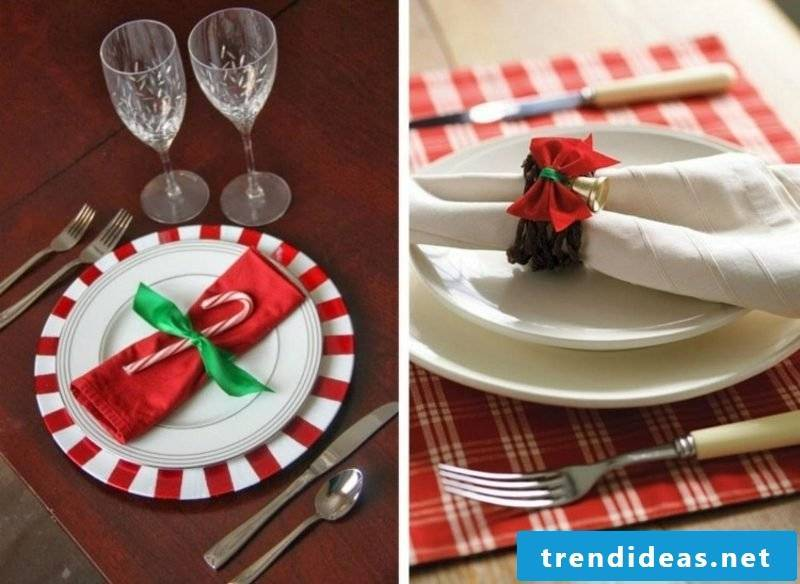 Napkins fold ideas and inspirations for Christmas
