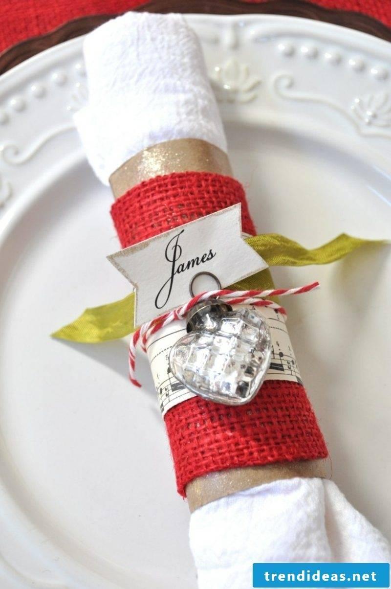 Napkins fold original ideas for Christmas