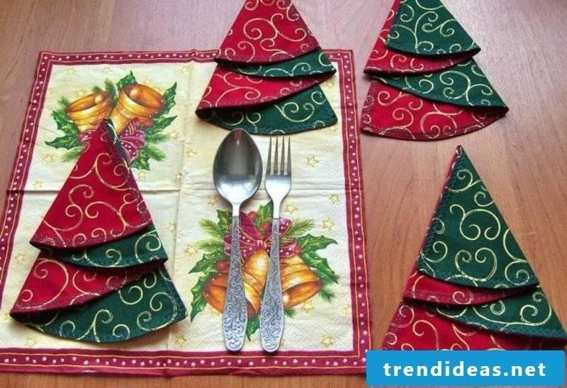 Christmas Decorations Ideas Cloth Napkins Fold Christmas Tree