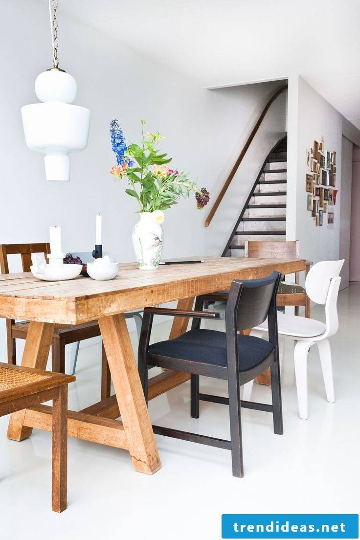 Solid wood furniture in modern decor