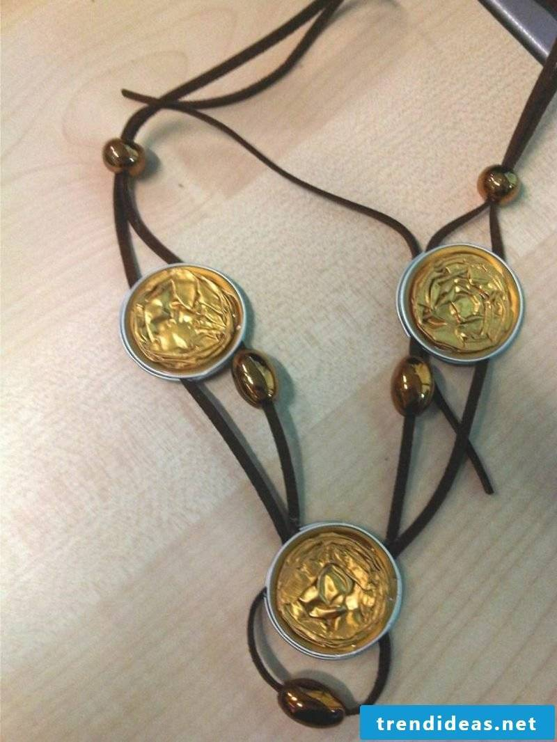 interesting necklace jewelry from Nespresso capsules