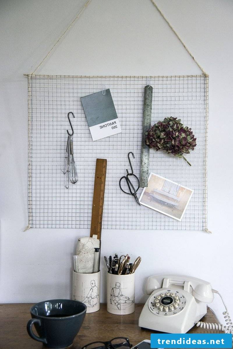 Make memoboard yourself out of metal