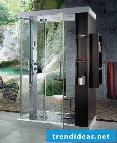 finished shower design