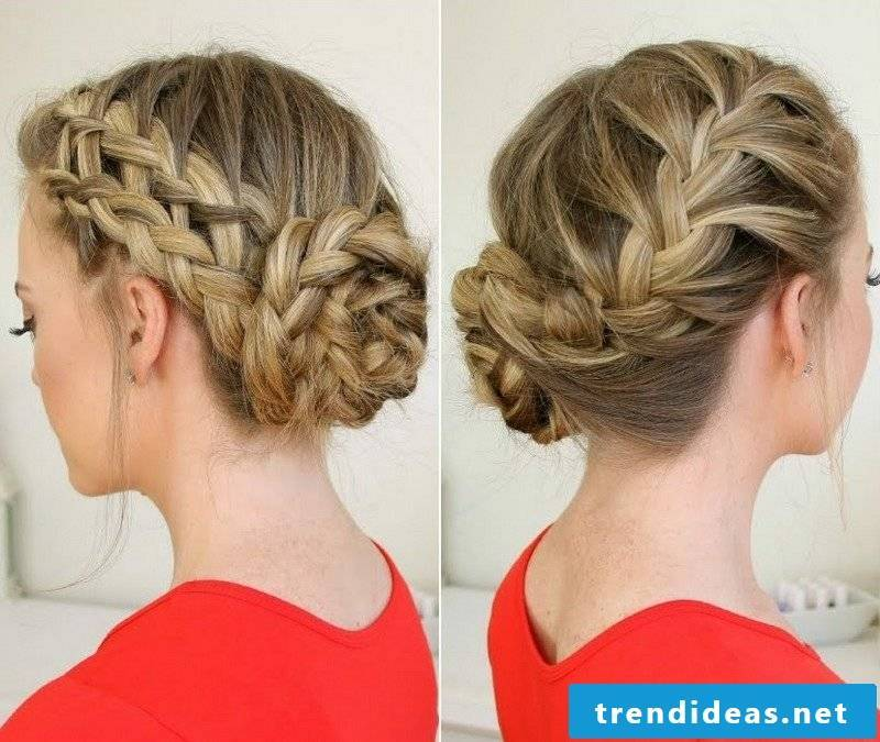 Updo hairstyles themselves make stylish braiding