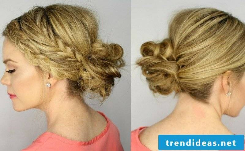 loose updos Dutt braids