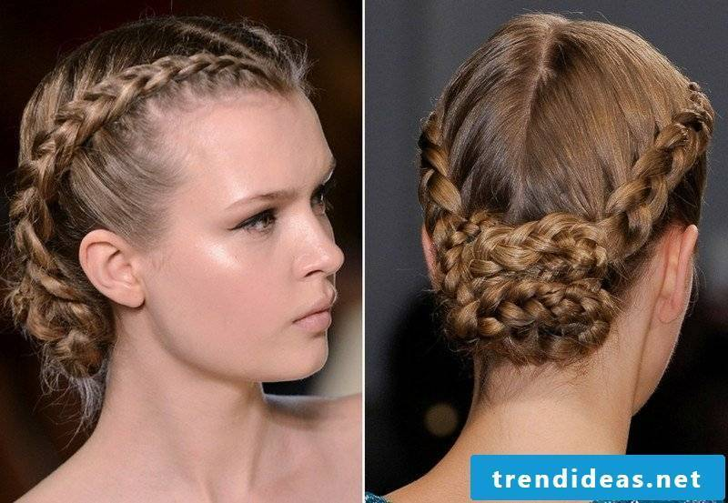 Updos themselves make elegant hairstyle with French braid