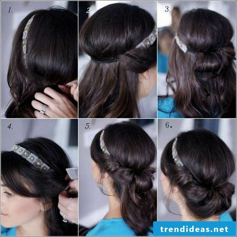 Updos Instructions in pictures foolproof hairband