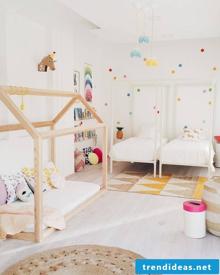 children's room ideas white wall design bed wood nursery design