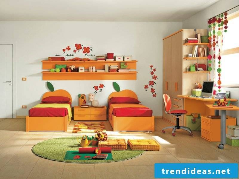 children's room ideas children's bed carpet furniture color scheme children's room set up