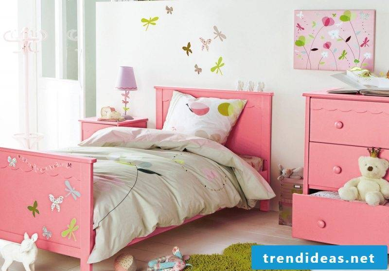 children's room ideas child bed pink girl nursery design