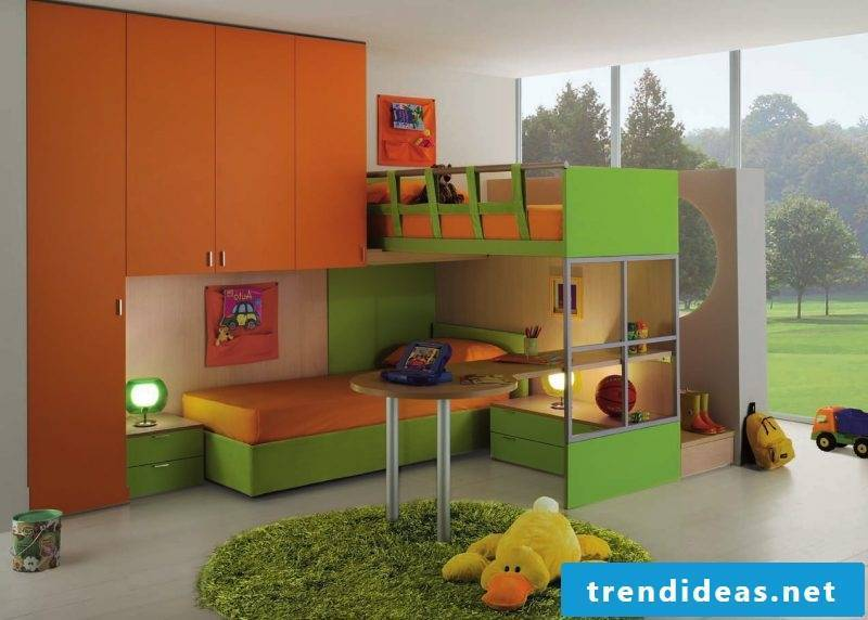children's room ideas color scheme cot nursery set up