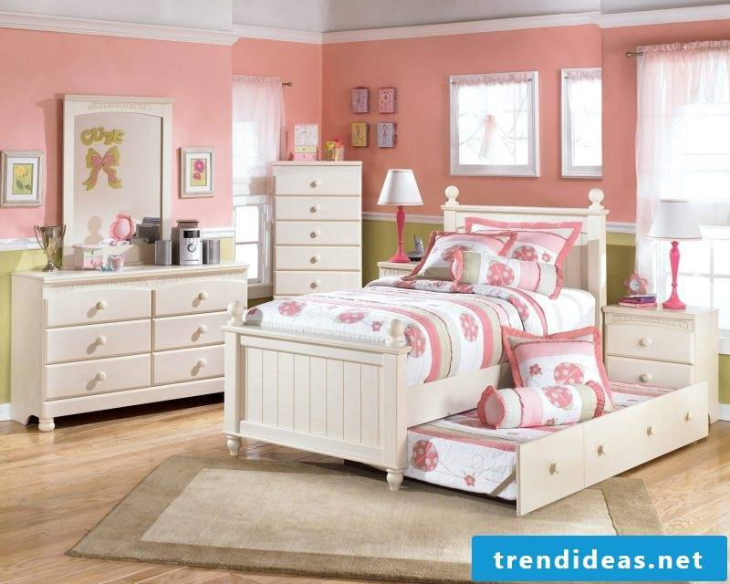 children's room ideas cot wall decor pink nursery decor