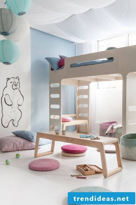 modern kids room design bed wood nursery ideas