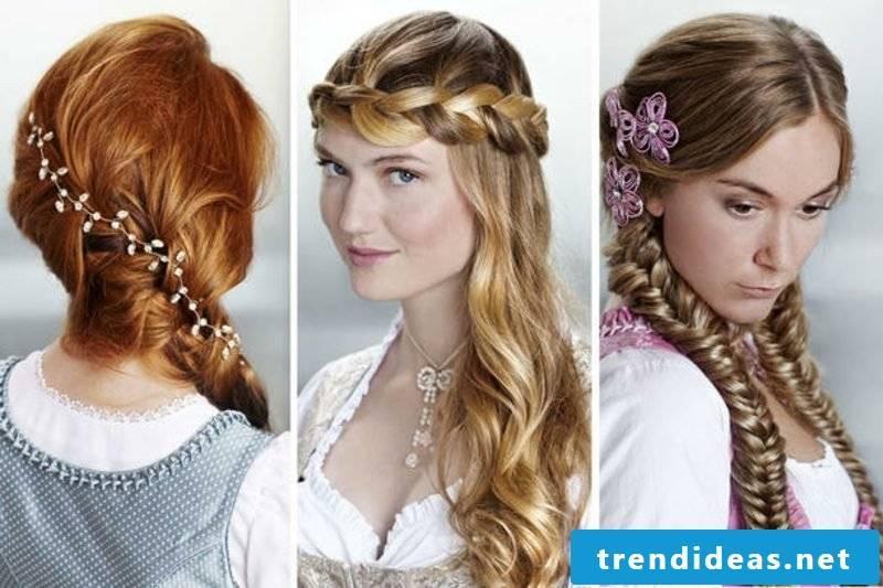 Dirndl hairstyles 3 great ideas