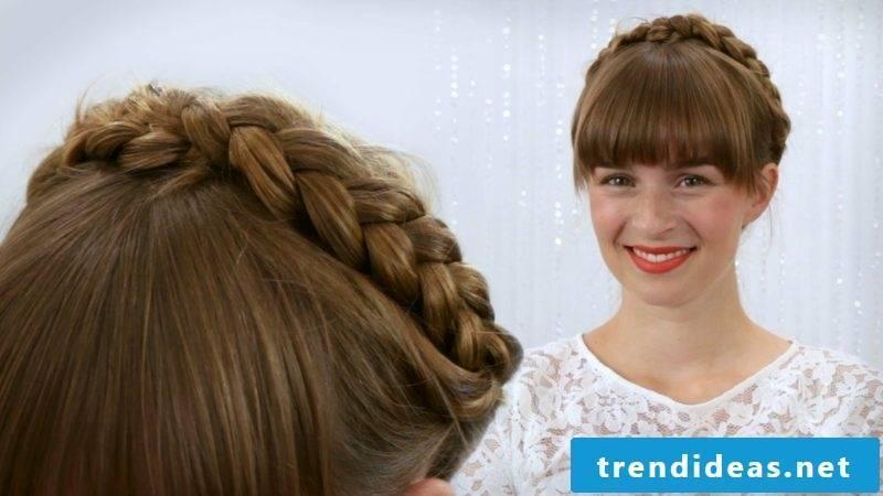 Hairstyles half-length hair Oktoberfest