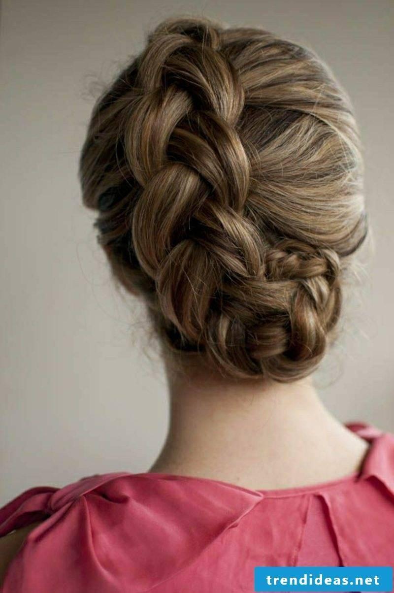Hairstyles medium-length hair plaited