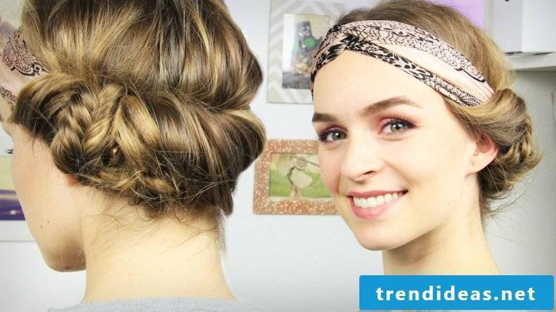Hairband hairstyle screwed in for Oktoberfest