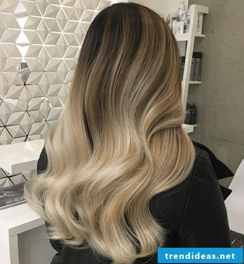 Ombre blond nuance cream bling gorgeous look