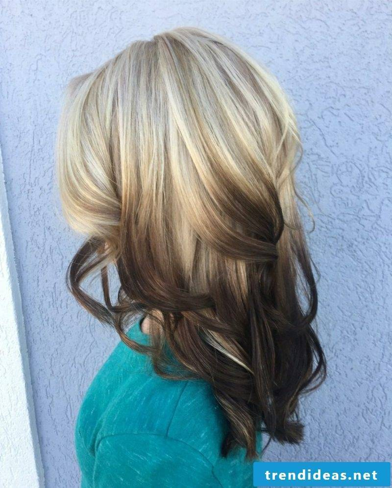 Painting hair reverse ombre