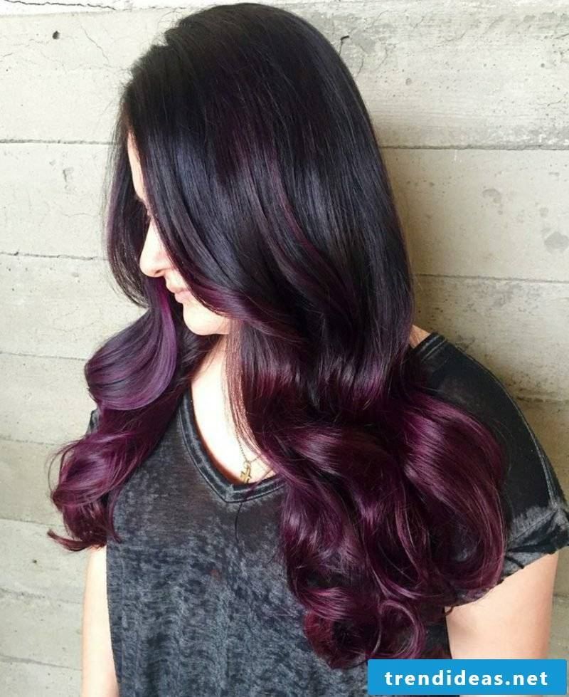 beautiful hair colors violet ombre look