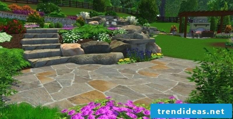 Garden planning online rock garden