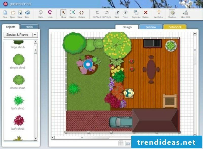 Landscape planning free software 2D