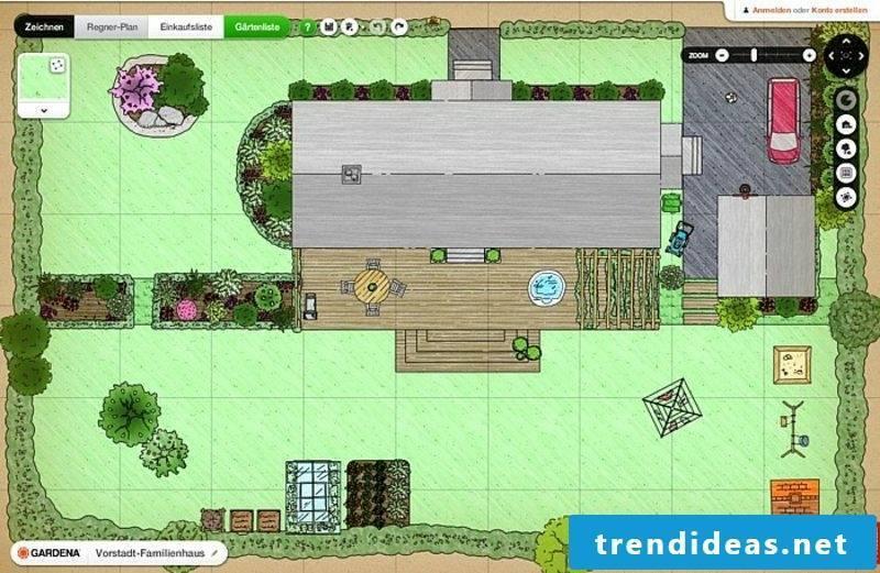 Gardena free online garden planner