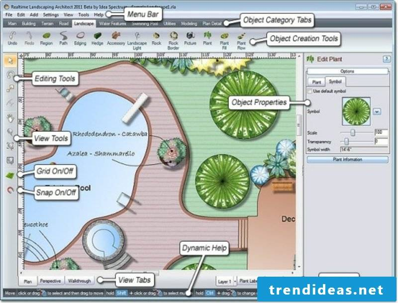 online garden planner interface