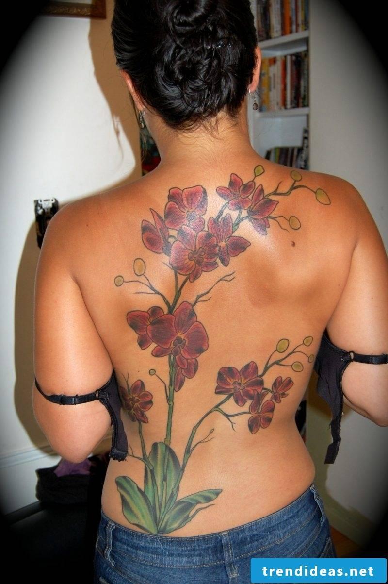 orchids tattoo