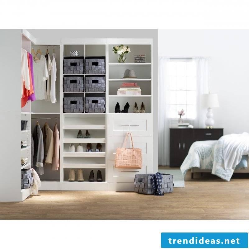 Modern walk-in closet for modern decor