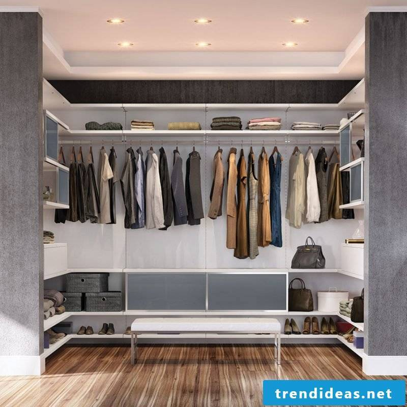 Open shelving systems for wardrobes for WOW effect