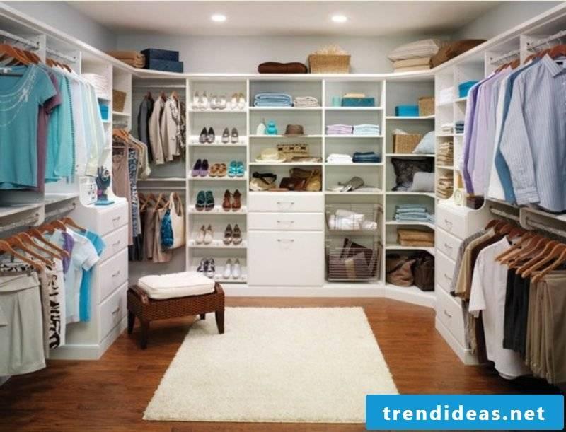 open wardrobe closet walk-in wardrobe light stool carpet