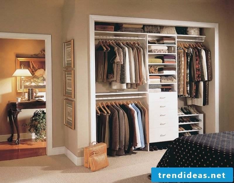 walk-in wardrobe bedroom open shelving systems