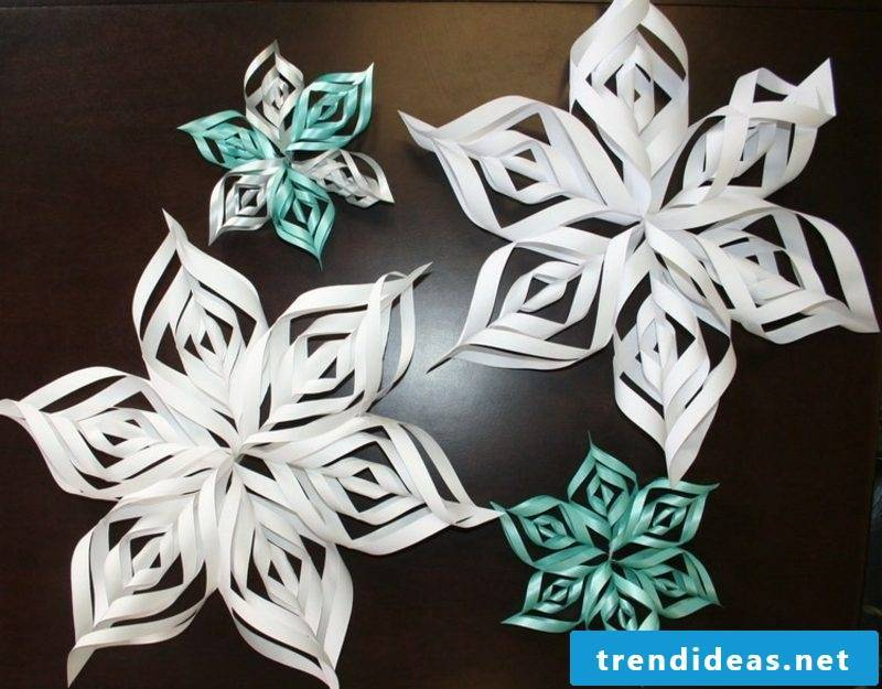 Origami Christmas original snowflakes