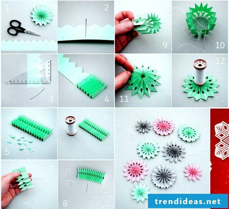 Origami Christmas DIY snowflakes