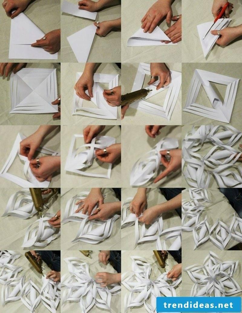 Origami Christmas 3d snowflakes