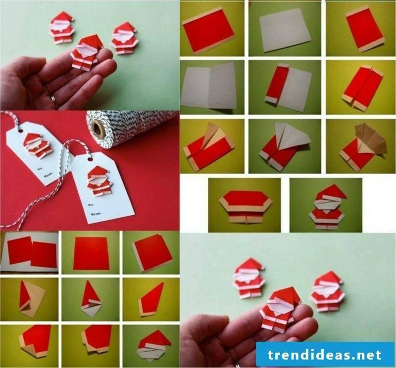 Origami Christmas Weihnachsmann