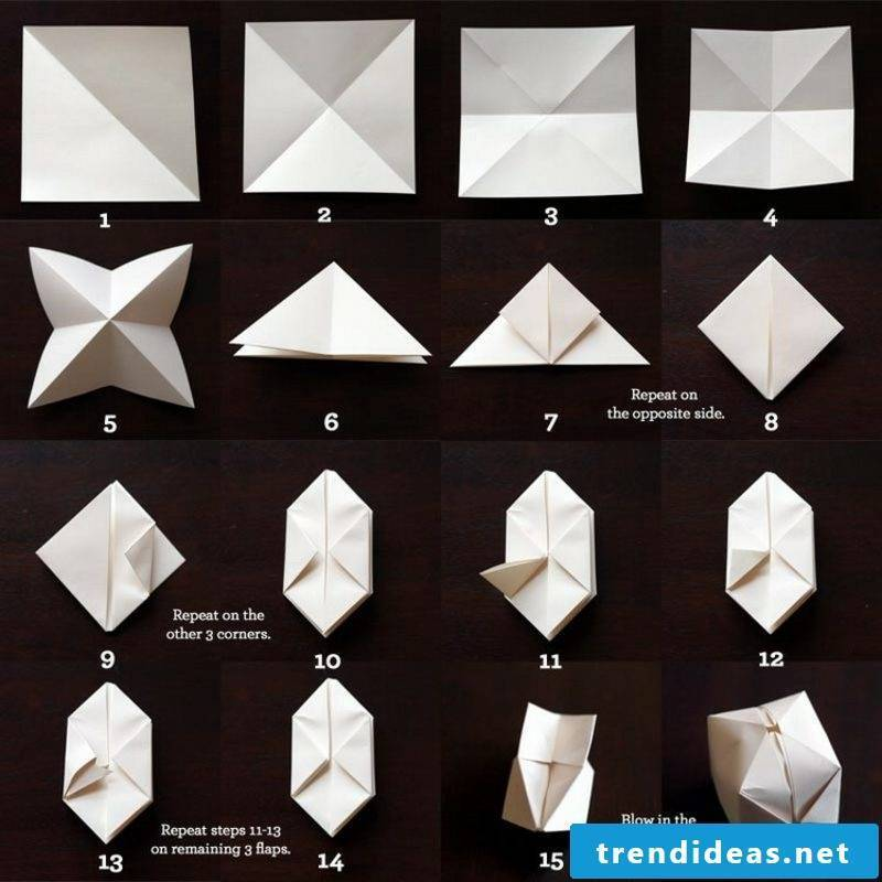 Origami Christmas boxes fold instruction in pictures