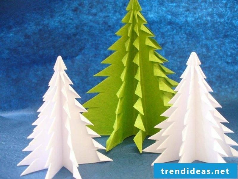 Origami folding Christmas making Christmas tree yourself