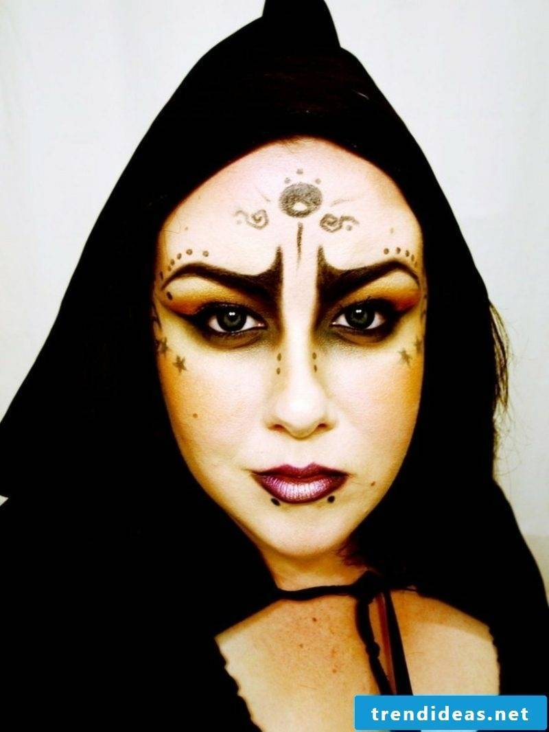 Halloween costume witch make-up interesting
