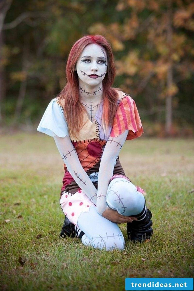 Halloween Cats Women Zombie scary