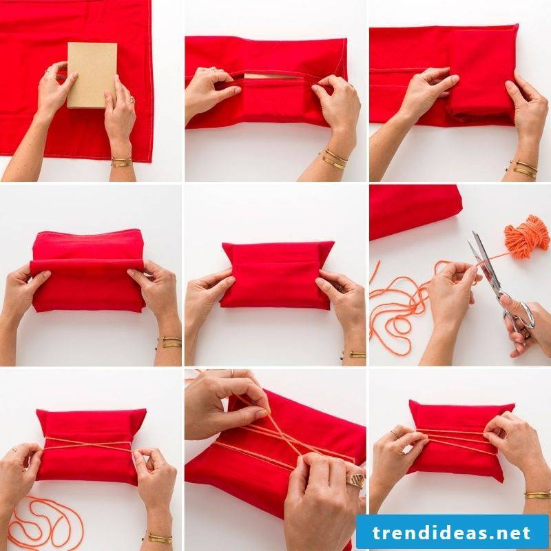 Beautifully pack gifts with fabric
