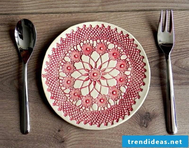 Painted ceramic dish