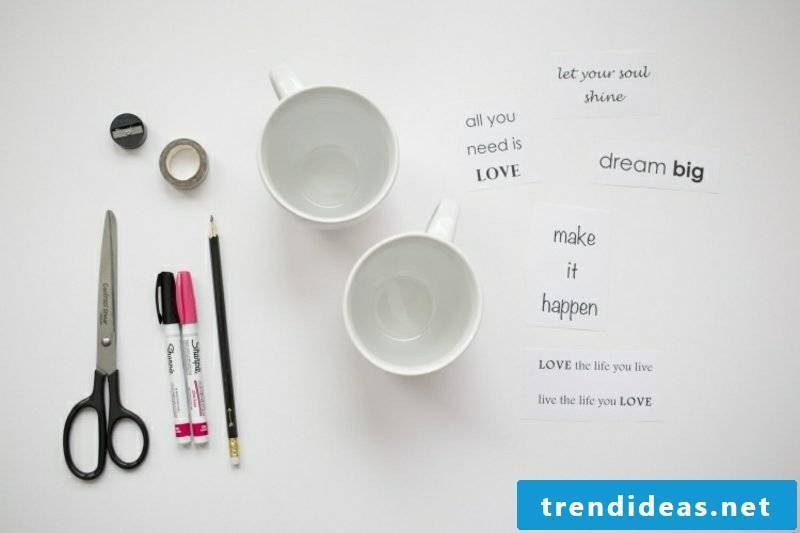 Paint cups DIY necessary materials