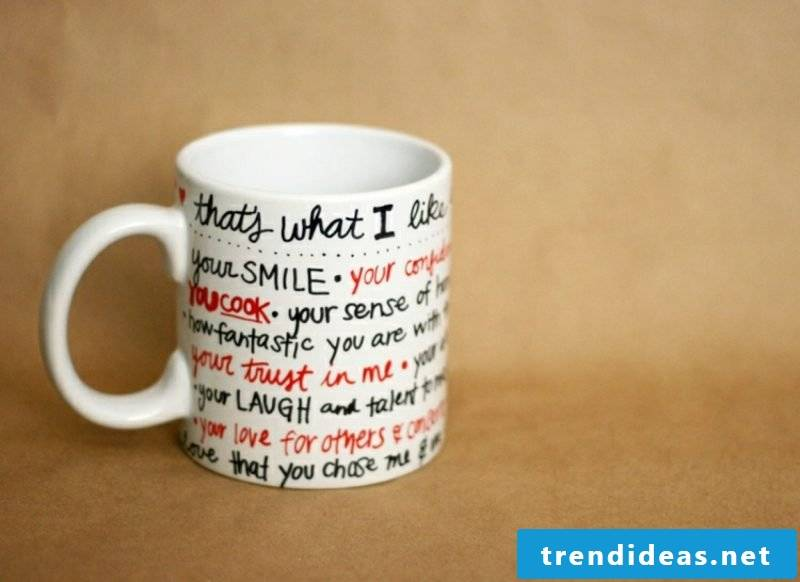 Cups are creative ideas for making your own